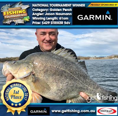 Golden Perch 61cm Jason Naumann Garmin $429 STRIKER 5dv
