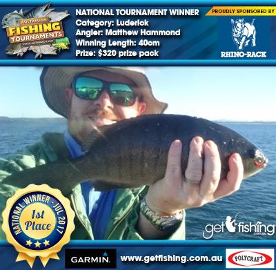 Luderick 40cm Matthew Hammond Rhino Rack $320 prize pack