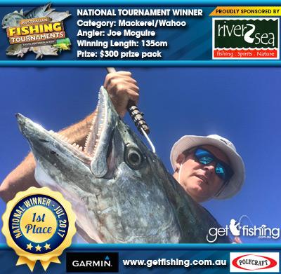 Mackerel/Wahoo 135cm Joe Mcguire River2Sea $300 prize pack