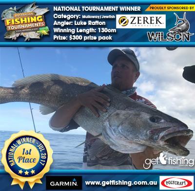 Mulloway/Jewfish 130cm Luke Rafton Wilson/Zerek $300 prize pack