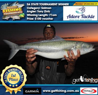Salmon 71cm Tony Zintz Adore Tackle $100 voucher