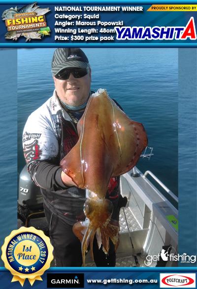 Squid 48cm Marcus Popowski Yamashita $300 prize pack