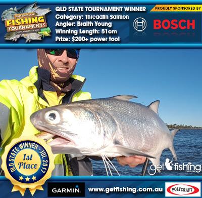 Threadfin Salmon 51cm Braith Young Bosch Blue Power Tools $200+ power tool