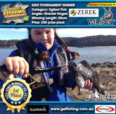 Ugliest Fish 85cm Shantel Hogan Wilson & Zerek $50 prize pack