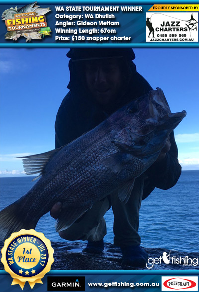 WA Dhufish 67cm Gideon Mettam Jazz Charters $150 snapper charter