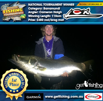 Barramundi 110cm Cameron Haigh Lox $380 rod/brag mat
