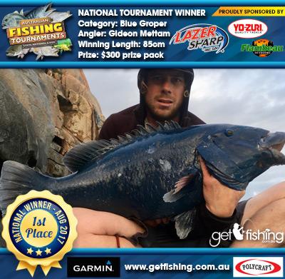 Blue Groper 85cm Gideon Mettam Eagle Claw/Yo-Zuri $300 prize pack