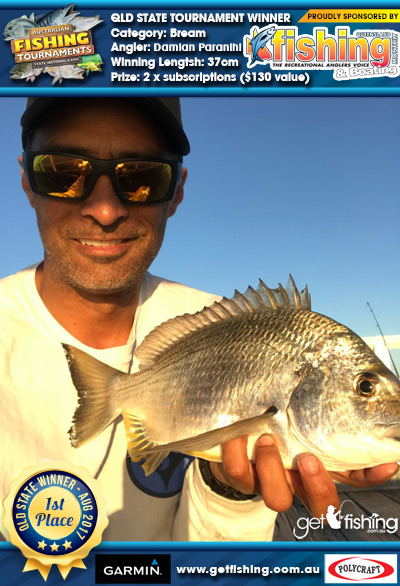 Bream 37cm Damian Paranihi Fishing Monthly QLD 2 x subscriptions ($130 value)