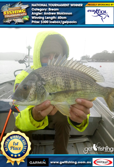Bream 40cm Andrew Mckinnon Evakool/IceMate $300 icebox/gelpacks
