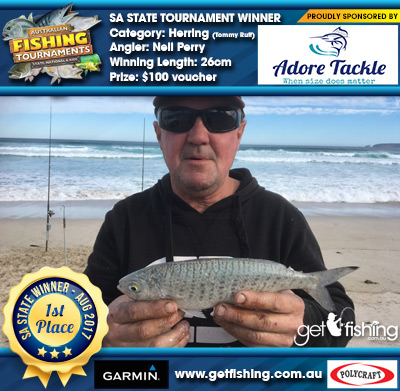 Herring (Tommy Ruff) 26cm Neil Perry Adore Tackle $100 voucher