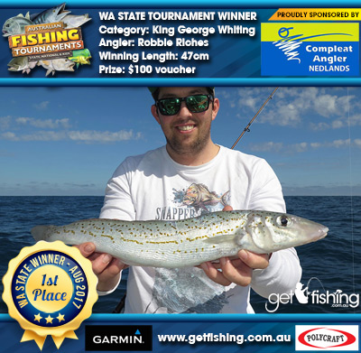 King George Whiting 47cm Robbie Riches Compleat Angler Nedlands $100 voucher