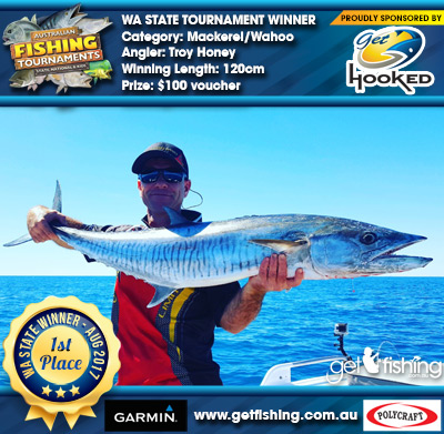 Mackerel/Wahoo 120cm Troy Honey Get Hooked $100 voucher