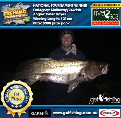 Mulloway/Jewfish 121cm Peter Hayes River2Sea $300 prize pack