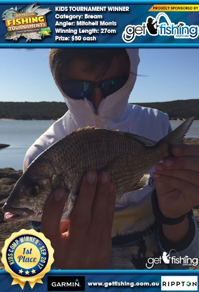 Bream 27cm Mitchell Morris Get Fishing $50 cash