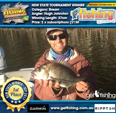 Bream 37cm Hugh Johnston NSW Fishing Monthly Magazine 2 x subscriptions ($130 value)