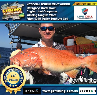Coral Trout 69cm Joel Chapman Life Cell $345 Trailer Boat Life Cell