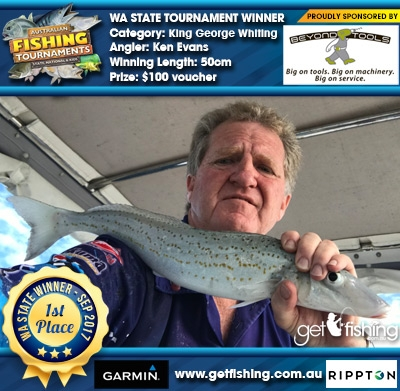 King George Whiting 50cm Ken Evans Beyond Tools $100 voucher
