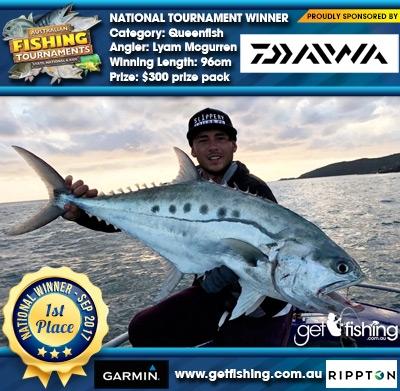 Queenfish 96cm Lyam Mcgurren Daiwa $300 prize pack