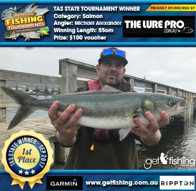 Salmon 55cm Michael Alexander The Lure Pro $100 voucher