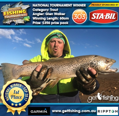 Trout 60cm Glen Walker STA-BIL Marine and 303 Protectants and Cleaners $356 prize pack