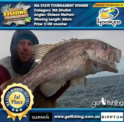 WA Dhufish 68cm Gideon Mettam Get Hooked $100 voucher