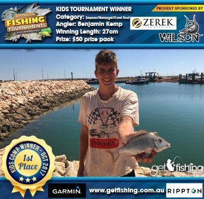 Emperor/Nannygai/Coral Trout 27cm Benjamin Kemp Wilson & Zerek $50 prize pack