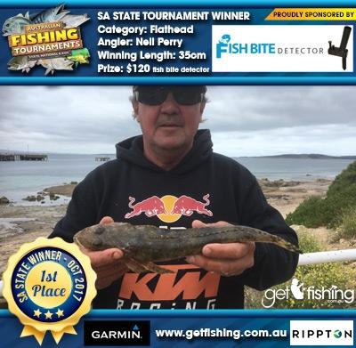 Flathead 35cm Neil Perry Fish Bite Detector $120 fish bite detector