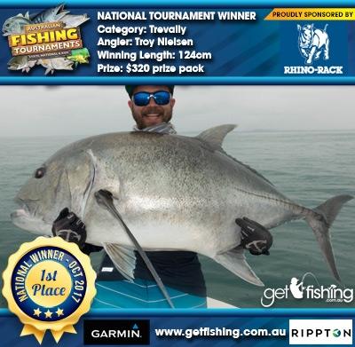 Trevally 124cm Troy Nielsen Rhino Rack $320 prize pack