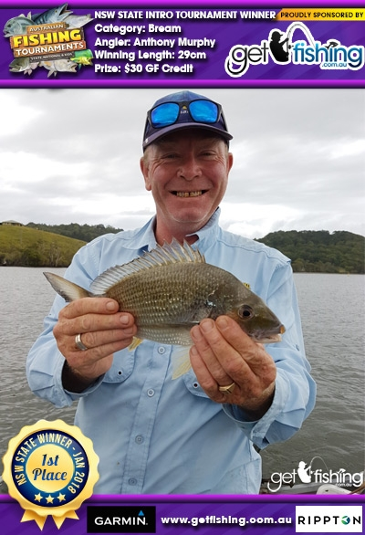 Bream 29cm Anthony Murphy Get Fishing $30 GF Credit