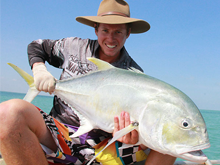 barefoot fishing safaris trevally caught in darwin