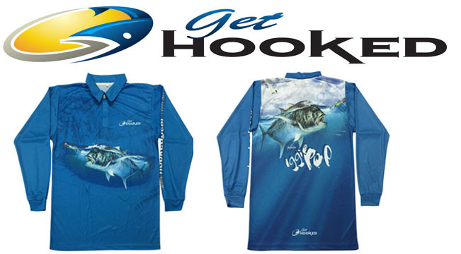 Get Hooked fishing tournament shirt iggy pop gt giant trevally-Get Fishing
