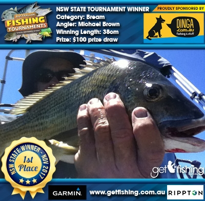 Bream 38cm Michael Brown Dinga Fishing $100 prize draw