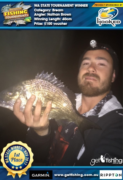 Bream 40cm Nathan Brown Get Hooked $100 voucher