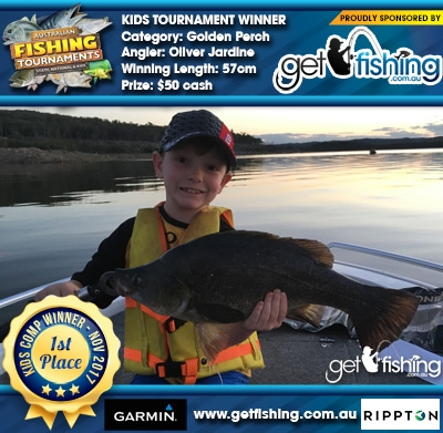 Golden Perch 57cm Oliver Jardine Get Fishing $50 cash