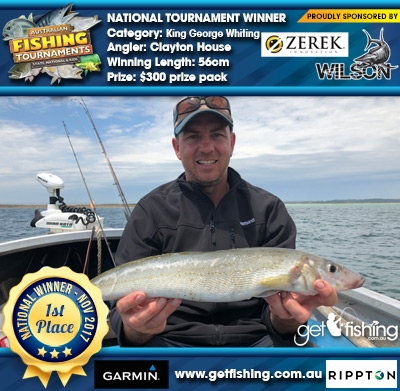King George Whiting 56cm Clayton House Wilson/Zerek $300 prize pack
