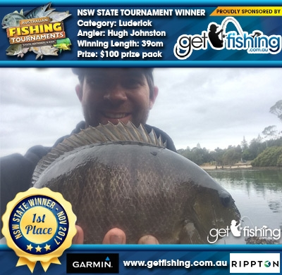 Luderick 39cm Hugh Johnston Get Fishing $100 prize pack