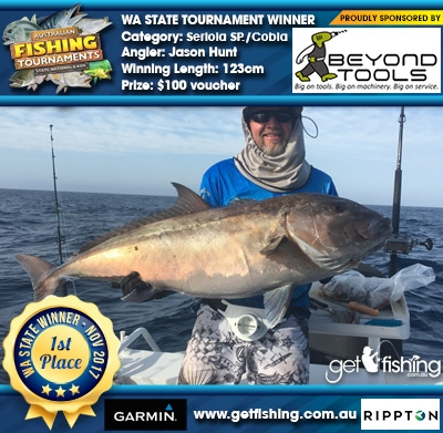Seriola SP./Cobia 123cm Jason Hunt Beyond Tools $100 voucher