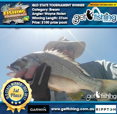 Bream 37cm Wayne Nolen Get Fishing $100 prize pack