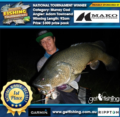 Murray Cod 92cm Adam Townsend Mako Eyewear $300 prize pack
