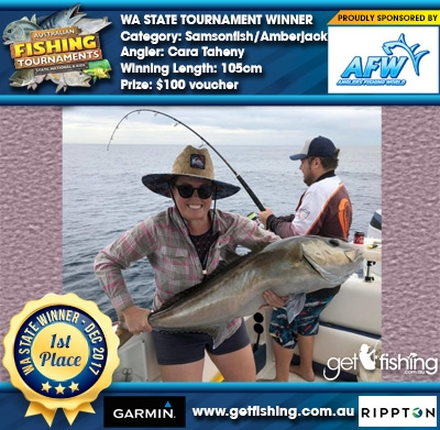 Samsonfish/Amberjack 105cm Cara Taheny Anglers Fishing World $100 voucher