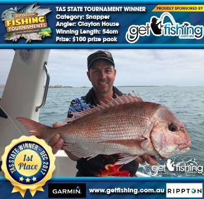 Snapper 54cm Clayton House Get Fishing $100 prize pack