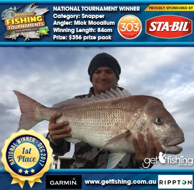 Snapper 84cm Mick Mccallum STA-BIL Marine and 303 Protectants and Cleaners $356 prize pack