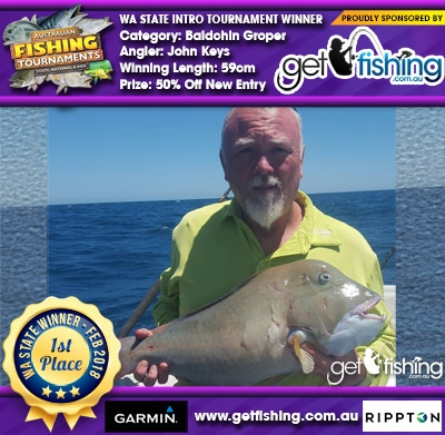 Baldchin Groper 59cm John Keys Get Fishing 50% Off New Entry