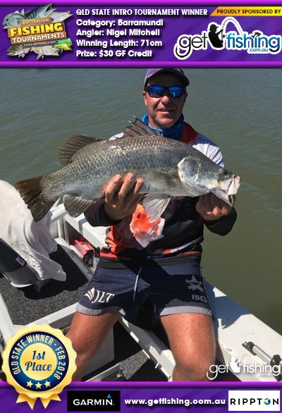 Barramundi 71cm Nigel Mitchell Get Fishing $30 GF Credit