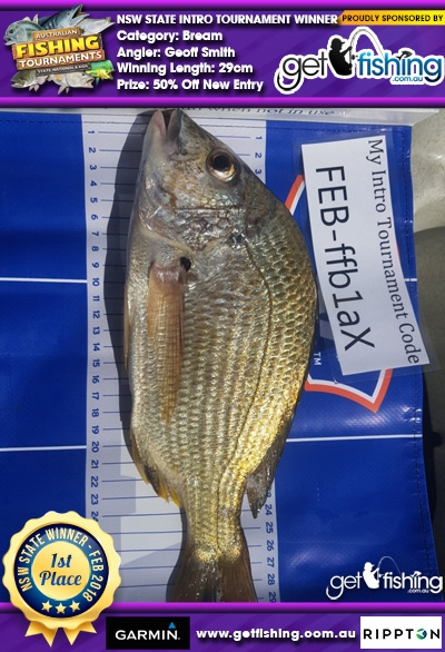 Bream 29cm Geoff Smith Get Fishing 50% Off New Entry