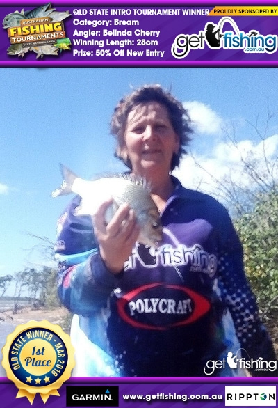 Bream 28cm Belinda Cherry Get Fishing 50% Off New Entry