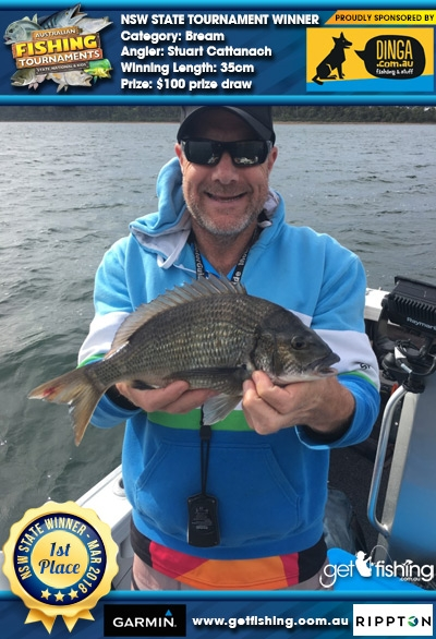 Bream 35cm Stuart Cattanach Dinga Fishing $100 prize draw