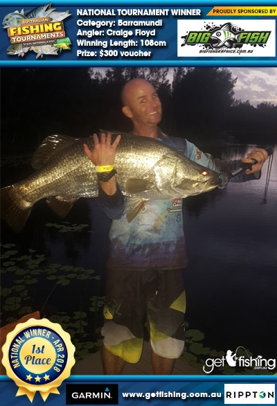 Barramundi 108cm Craige Floyd Bigfish Graphics $300 voucher