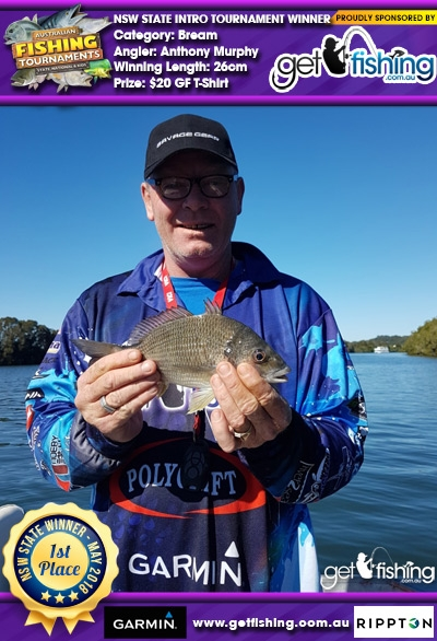 Bream 26cm Anthony Murphy Get Fishing $20 GF T-Shirt