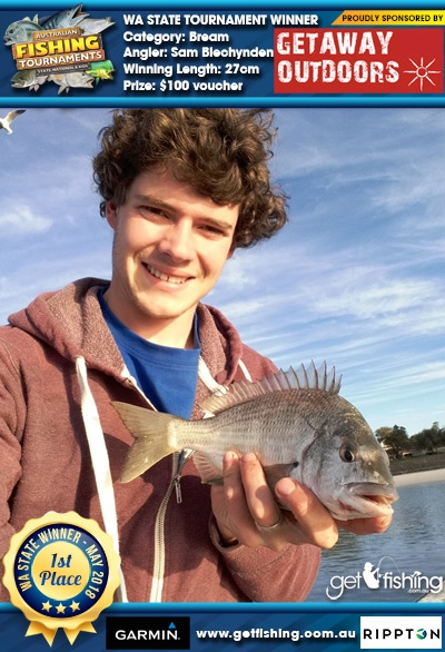 Bream 27cm Sam Blechynden Getaway Outdoors $100 voucher